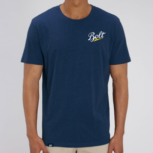 camiseta azul by bolt motor company